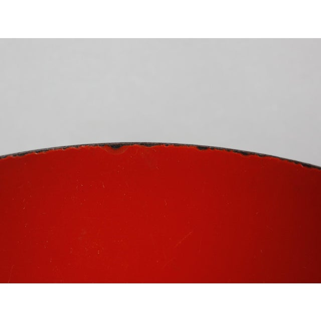 Mid 20th Century l Finland Red Enamel Bowl Kaj Franck Mid Century Modern For Sale - Image 5 of 8