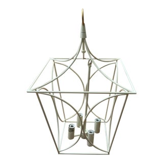 Visual Comfort Kate Spade Cavanagh Cream & Gild Lantern Pendant Light For Sale