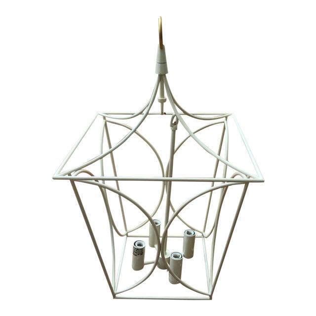 Visual Comfort Kate Spade Cavanagh Cream & Gild Lantern Pendant Light For Sale