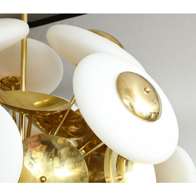 2000s Sculptural Italian Modern Brass and Glass Sputnik Chandelier With 45 Arms For Sale - Image 5 of 6