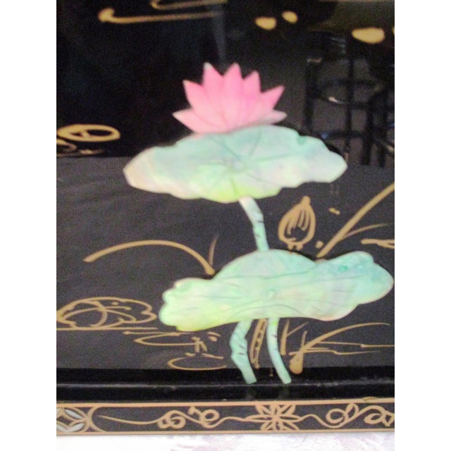 Brass Mid-Century Japanese Mother-Of-Pearl Panels - A Pair For Sale - Image 7 of 10