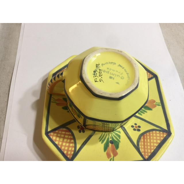 Mid 19th Century Yellow Quimper Pottery Dinnerware - 36 Pieces For Sale - Image 5 of 10