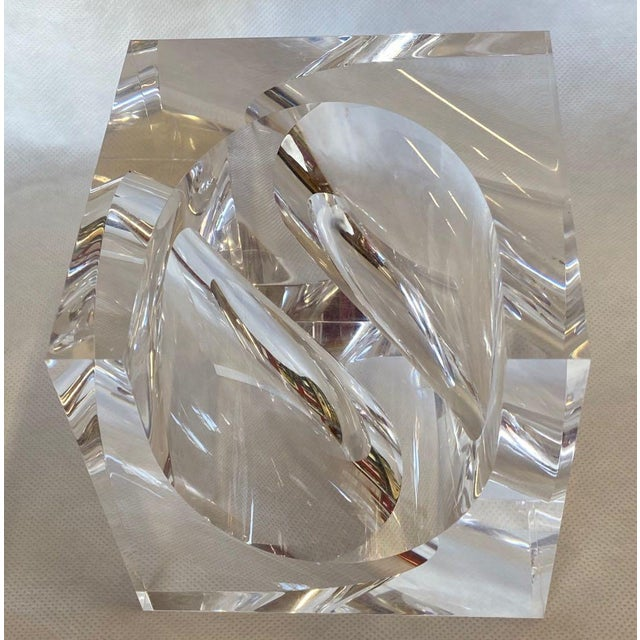 1970s Italian Alessio Tasca Lucite Sculpture For Sale In Tampa - Image 6 of 11
