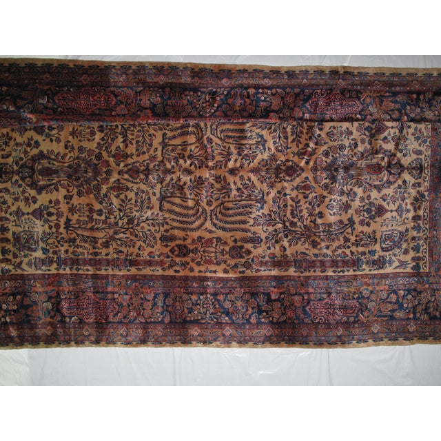 """Taupe Leon Banilivi Manchester Kashan - 9' X 14'8"""" For Sale - Image 8 of 11"""
