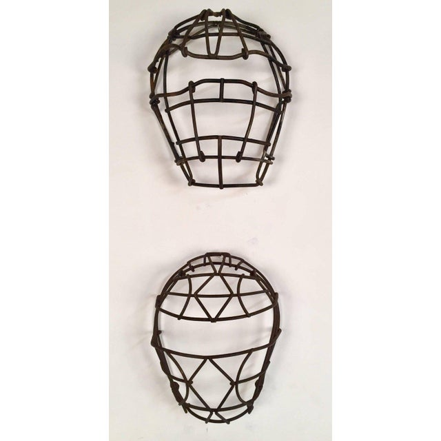 Antique Collection of Nine Metal Catchers Masks - Image 5 of 7