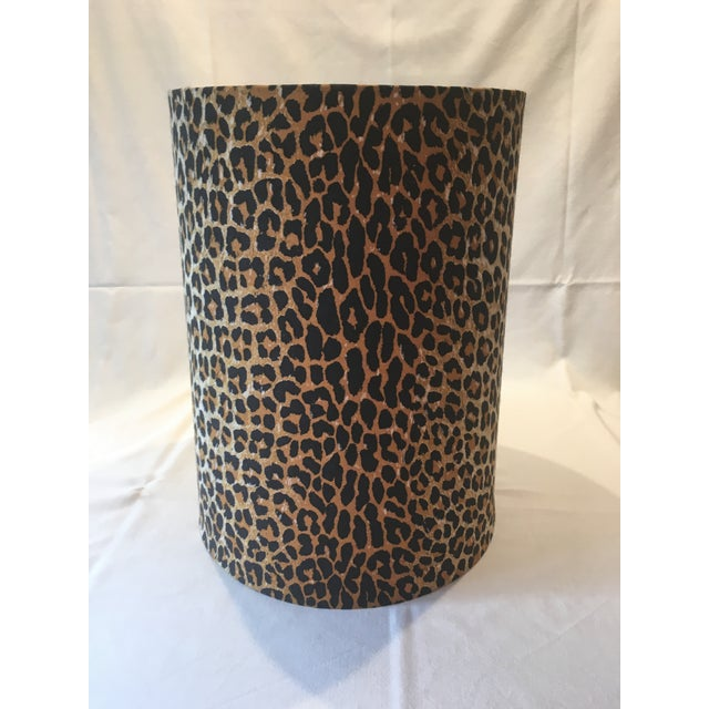 Leopard Fabric Lamp Shade - Image 2 of 7