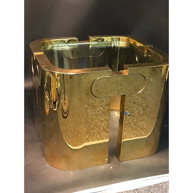 AMAZING GOLDEN BRONZE MODERNIST PUZZLE TABLE For Sale - Image 11 of 11