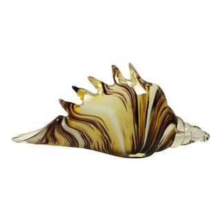 Murano Shell Vase For Sale