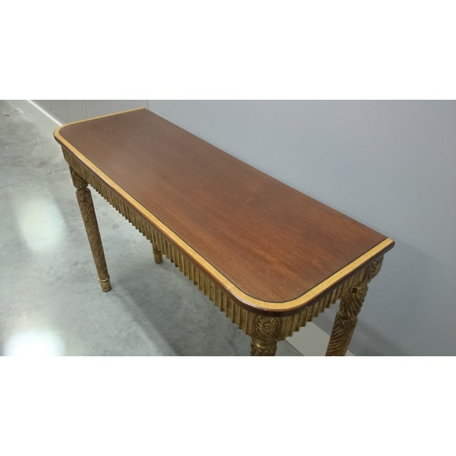 Therien Studio George III Gold Leaf and Mahogany Console - Image 4 of 4