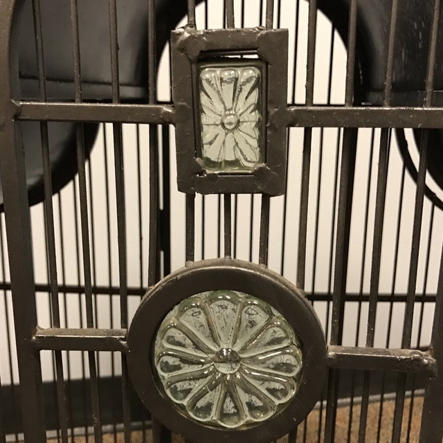Victorian Wrought Iron Bird Cage - Image 4 of 7