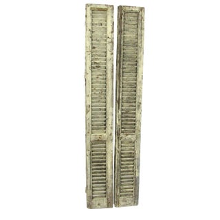Tall White French Shutters - A Pair