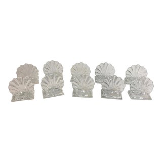 10 Baccarat Place Card Holders Shell Form For Sale