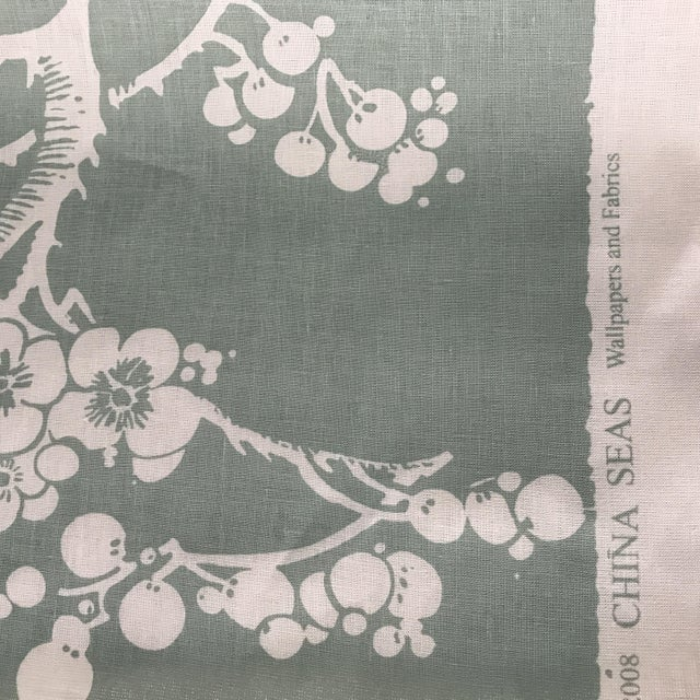 China Seas Quadrille Hawthorne Linen Fabric - 2 Yards For Sale In New York - Image 6 of 7