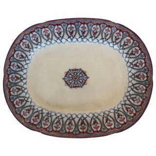 Large Arabian Pattern Staffordshire Platter For Sale