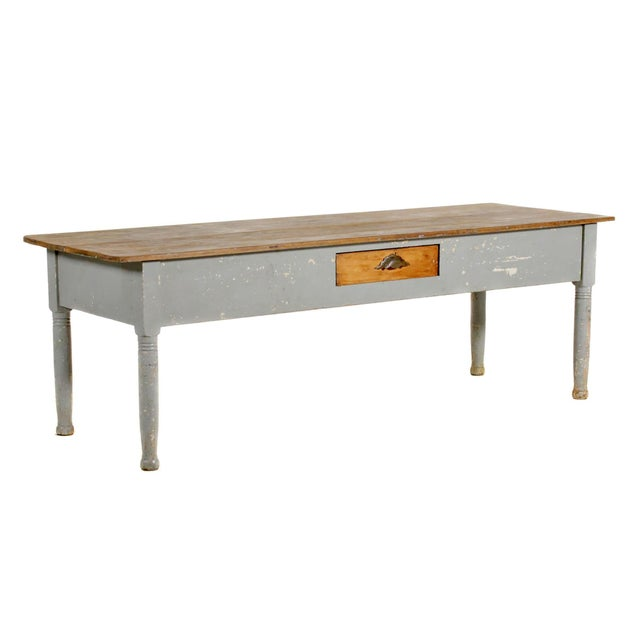 Farmhouse Early 20th Century American Farm Table For Sale - Image 3 of 11