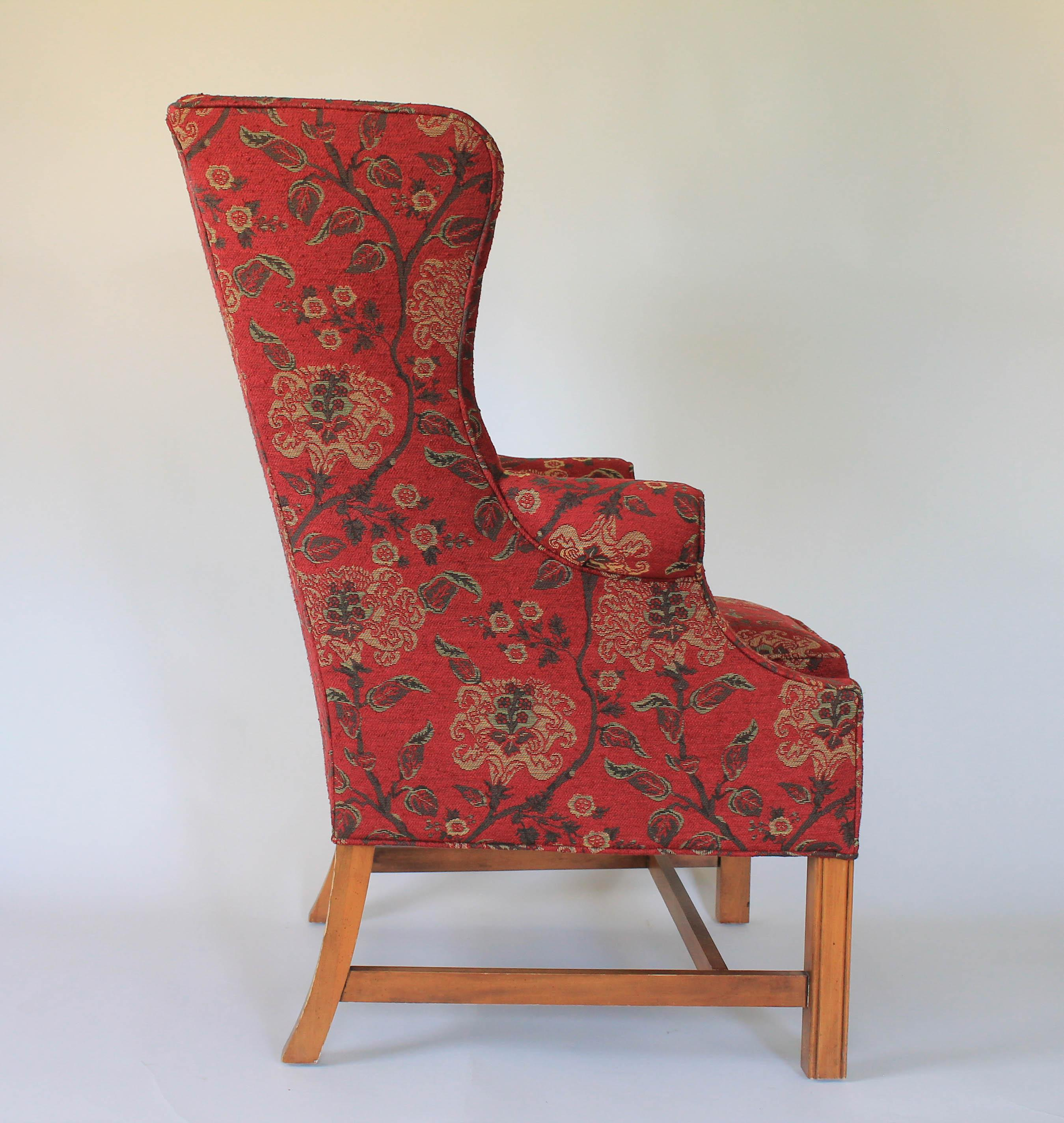 Mid 20th Century Upholstered Wingback Chair For Sale   Image 5 Of 11