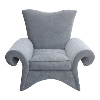 Flamboyant 80's Lounge Chair by Goodman Charlton For Sale