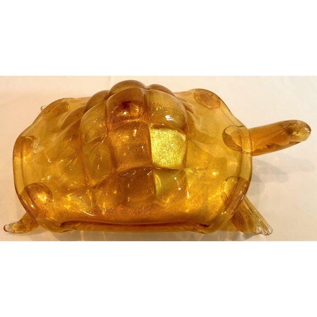 Mid 20th Century Estate Italian Murano Glass Turtle Sculpture, Circa 1950's-1960's. For Sale - Image 5 of 6