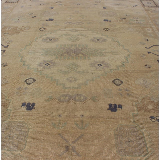 Vintage Muted Turkish Oushak For Sale In Atlanta - Image 6 of 8