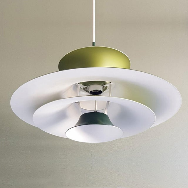 Danish Mid-Century Modern Radius 1 Pendant Lamp by Erik Balslev for Fog & Mørup For Sale In San Francisco - Image 6 of 11