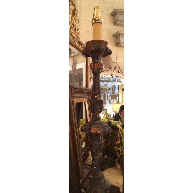 18th Century Italian Wired Candlestick - Image 3 of 4