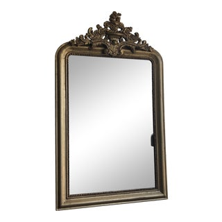 Restoration Hardware Gold Wall Mirror For Sale