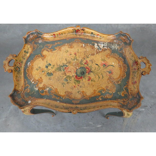 Italian Antique Venetian Tray Table For Sale - Image 3 of 8
