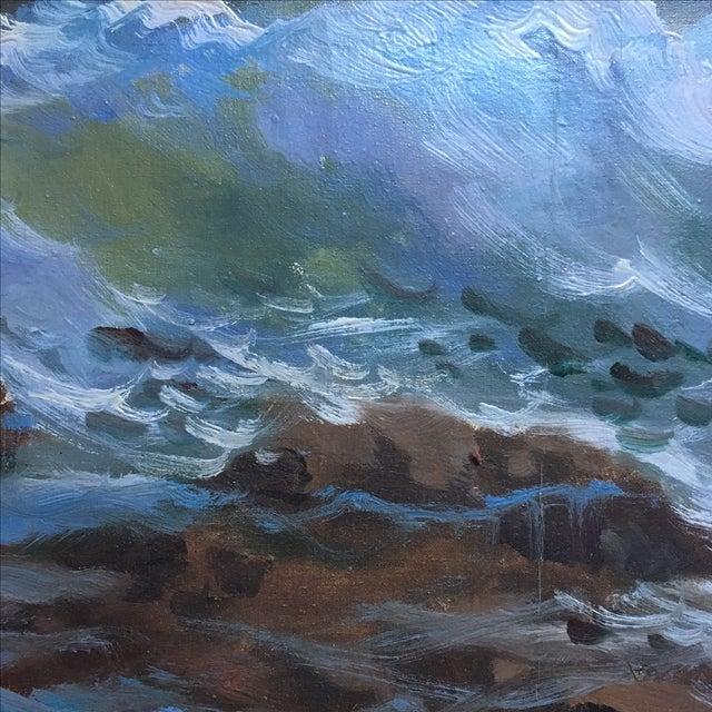 Vintage Large Signed Seascape - Image 9 of 11