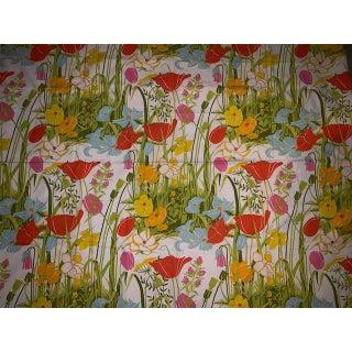 1960s Vintage Designer Tulip Fabric For Sale