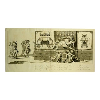 """Pieter Van Cuyck """"Hearse & Coffin"""" Engraving For Sale"""