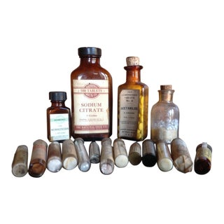 Vintage Medical Bottle Collection, Antique Doctors Pharmacy Cures For Sale