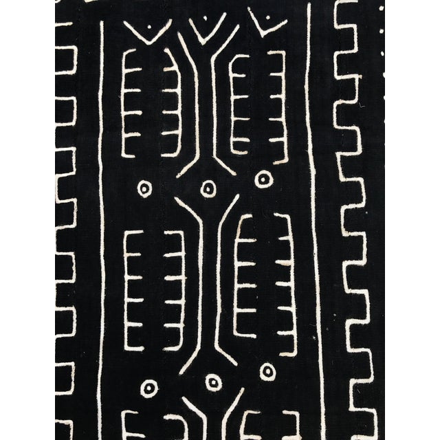 African Handmade Mud Cloth Tribal Design Textile For Sale - Image 9 of 9