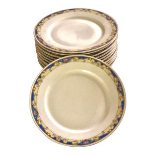 Antique 1920s Chargers Large Dinner Plates - Set of 12 For Sale