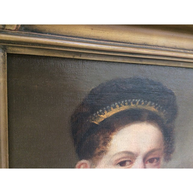 Portrait of a Lady Wearing a Tiara - Image 6 of 9