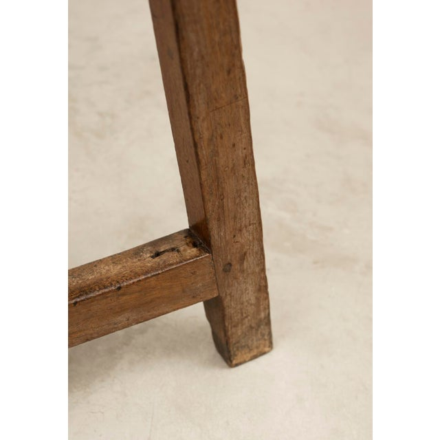 Iron 18th Century Spanish Travel Table in Walnut For Sale - Image 7 of 10