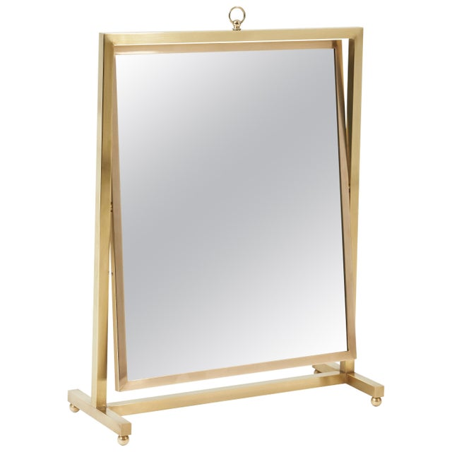 Gold Adjustable Brass Vanity Mirror, Mid Century, 1960s For Sale - Image 8 of 8