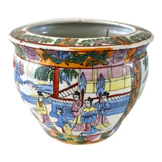 Vintage Chinoiserie Planter For Sale