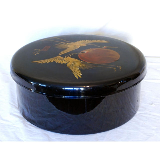Japanese Black Lacquered Box - Image 3 of 6