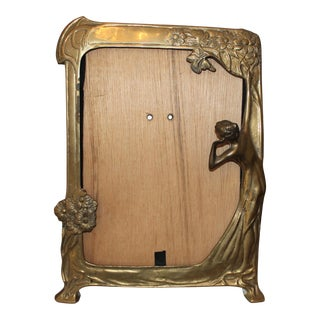 Vintage Art Nouveau Brass Nymph Frame
