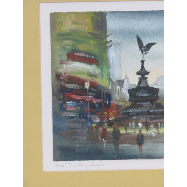 """Paint """"Eros"""" Piccadilly Circus Painting For Sale - Image 7 of 13"""