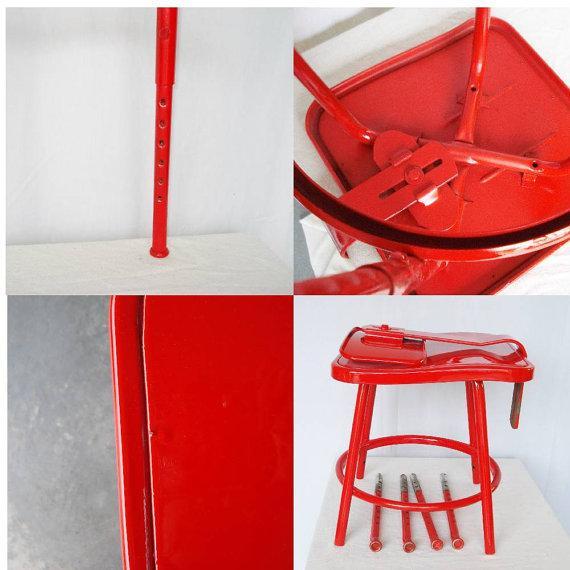 Industrial Adjustable Bar Stool or Drafting Stool - Image 6 of 6