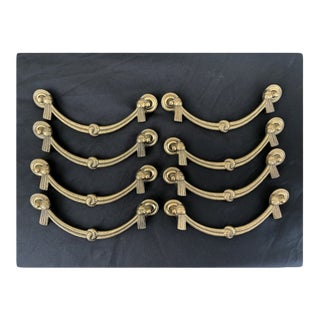 Brass Braided Rope Drawer Pulls - Set of 8 For Sale