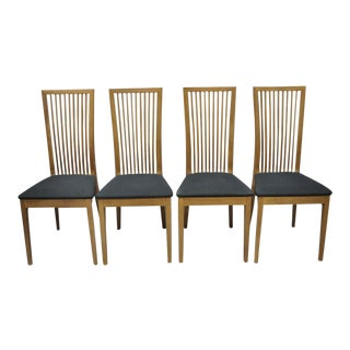 Early 21st Century Calligaris Connubia Slat Back Italian Wooden Dining Side Chair- Set of 4 For Sale