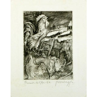 """P. Marage """"New Years"""" Etching For Sale"""