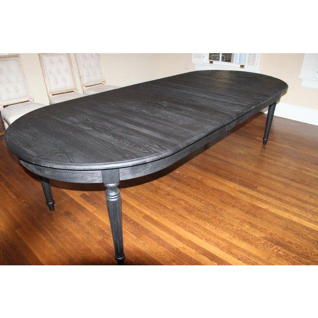 Restoration Hardware Black Dining Table - Image 5 of 7