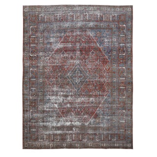 """Antique Tribal Persian Rug-10'5'x13'7"""" For Sale"""