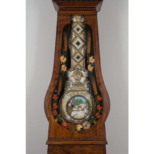 19th Century French Comtoise Grandfather Clock With Automated Pendulum For Sale In Orlando - Image 6 of 11