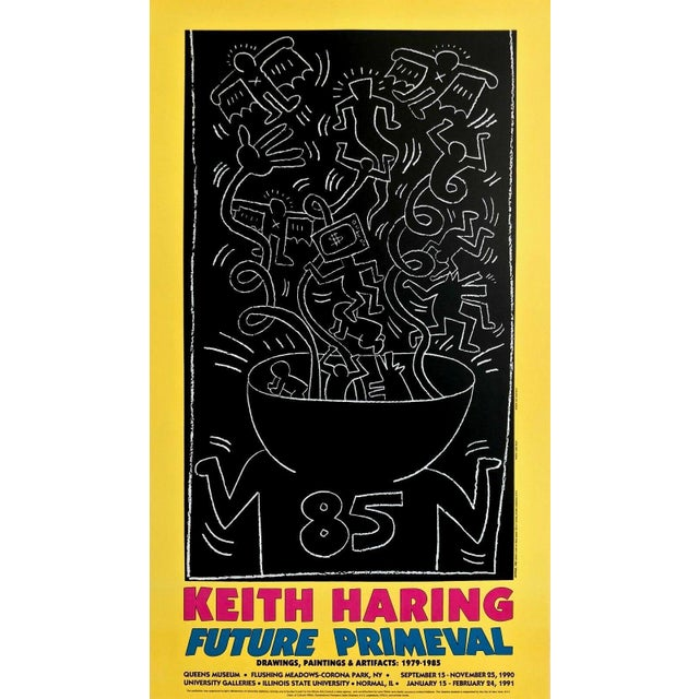 Pop Art (after) Keith Haring Future Primeval, 1990 Queens Museum Exhibition Poster 1990 For Sale - Image 3 of 3