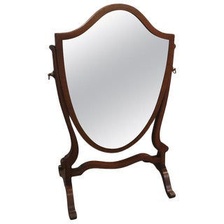 Late 19th Century Mahogany Hepplewhite Dressing Mirror For Sale