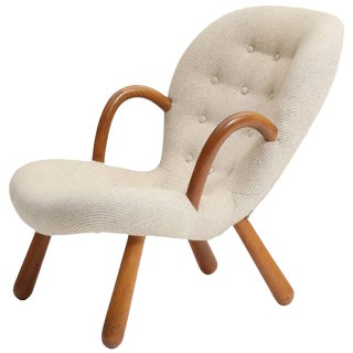 1940s Vintage Philip Arctander-Clam Chair For Sale